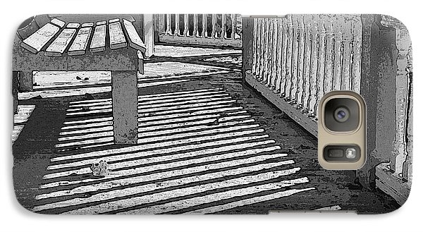 Galaxy Case featuring the photograph Zebra Porch by Betsy Zimmerli