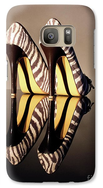 Galaxy Case featuring the photograph Zebra Print Stiletto by Terri Waters