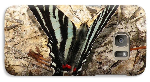 Galaxy Case featuring the photograph Zebra Swallowtail by Donna Brown