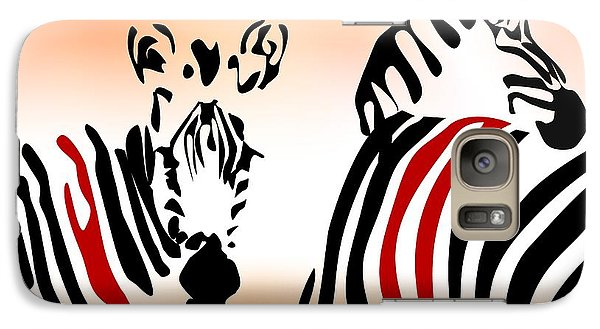 Galaxy Case featuring the digital art Zebra Theme by Leo Symon