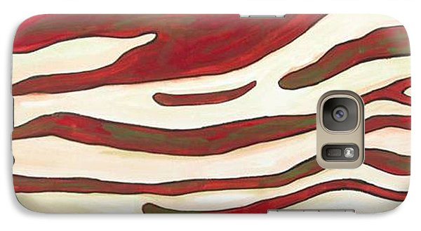 Galaxy Case featuring the painting Zebra Zone - Color On White by Sheron Petrie