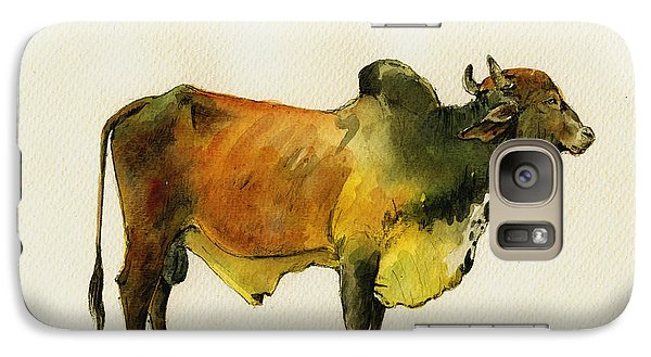 Zebu Cattle Art Painting Galaxy Case by Juan  Bosco