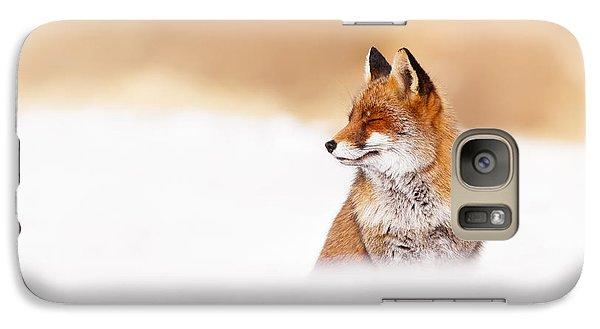 Zen Fox Series - Zen Fox In Winter Mood Galaxy Case by Roeselien Raimond