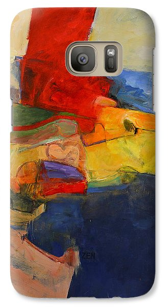 Galaxy Case featuring the painting Zen Harbor by Cliff Spohn