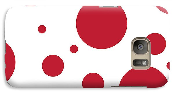 Galaxy Case featuring the digital art Zen Sphere Red On White by Bruce Stanfield