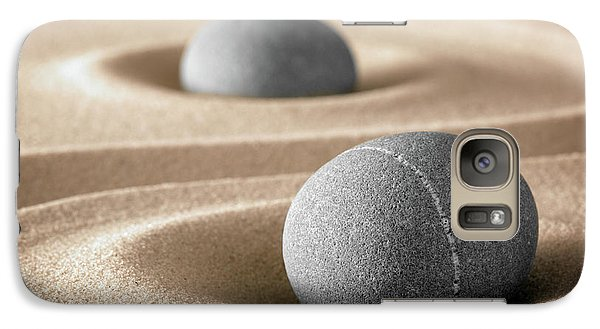 Galaxy Case featuring the photograph Zen Stone Garden by Dirk Ercken