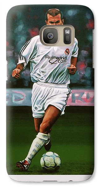 Zidane At Real Madrid Painting Galaxy S7 Case