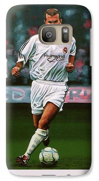 Zidane At Real Madrid Painting Galaxy S7 Case by Paul Meijering
