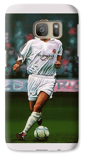 Zidane At Real Madrid Painting Galaxy Case by Paul Meijering
