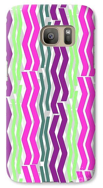 Zig Zig Stripes Galaxy S7 Case by Louisa Knight