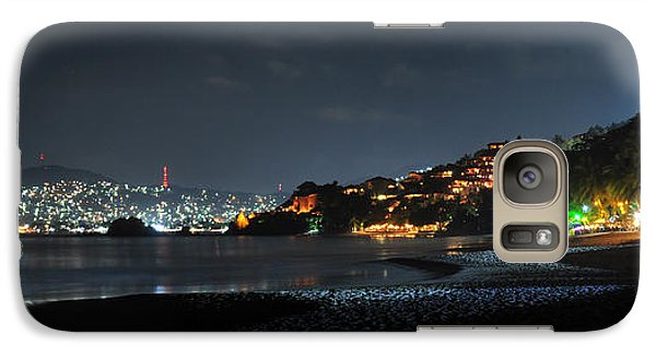 Galaxy Case featuring the photograph Zihuatanejo, Mexico by Jim Walls PhotoArtist