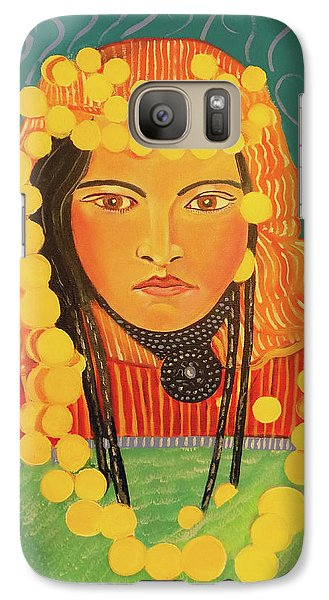 Galaxy Case featuring the painting Zina by John Keaton