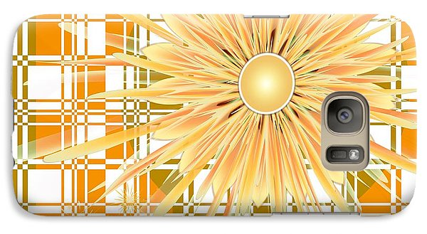 Galaxy Case featuring the digital art Zinnia by Michelle H