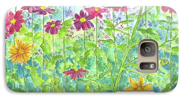 Galaxy Case featuring the painting Zinnias  by Cathie Richardson