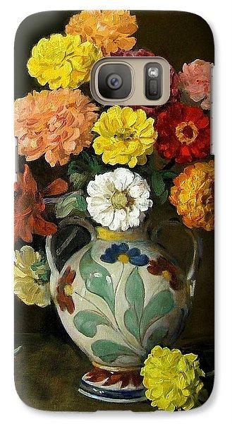 Zinnias In Decorative Italian Vase Galaxy S7 Case