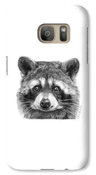 Galaxy Case featuring the drawing 046 Zorro The Raccoon by Abbey Noelle