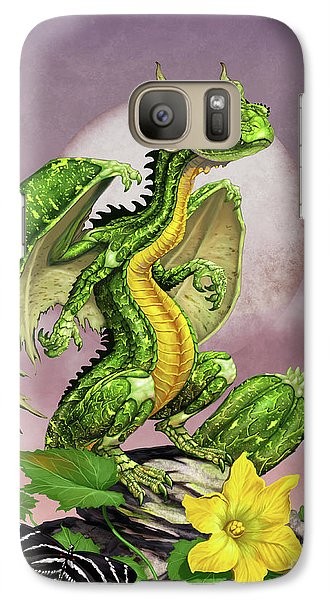 Galaxy Case featuring the digital art Zucchini Dragon by Stanley Morrison