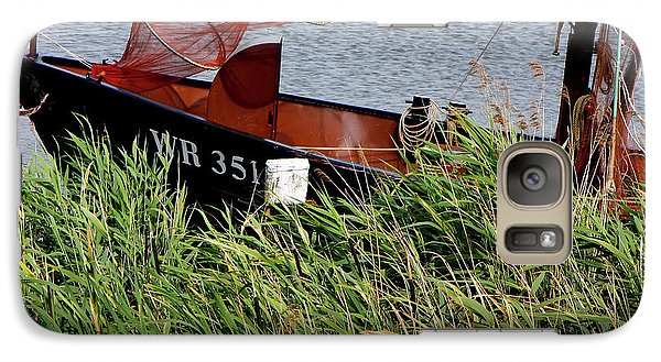 Galaxy Case featuring the photograph Zuiderzee Boat by KG Thienemann