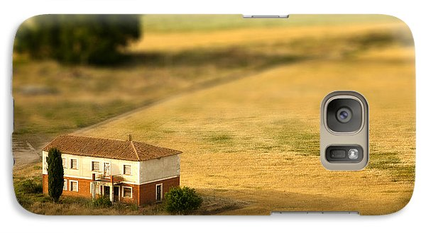 Pasture Galaxy S7 Case - A Tilt Shifted Country House On A by Ikerlaes
