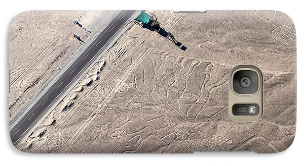 Airplanes Galaxy S7 Case - Aerial View Of Geoglyphs Near Nazca - by Matyas Rehak