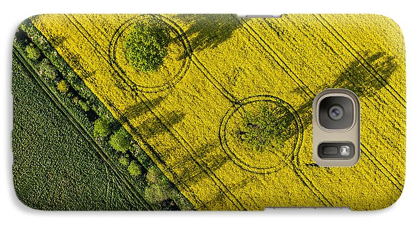 Airplanes Galaxy S7 Case - Aerial View Of Harvest Fields In Poland by Mariusz Szczygiel