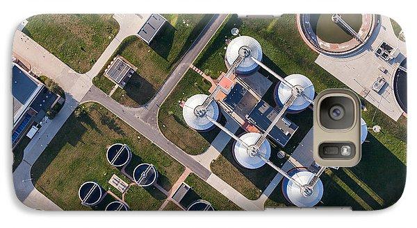Airplanes Galaxy S7 Case - Aerial View Of Sewage Treatment Plant by Mariusz Szczygiel