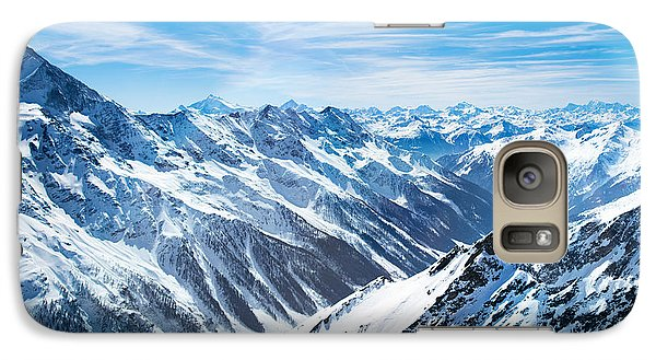 Airplanes Galaxy S7 Case - Aerial View Of The Alps Mountains In by Famveld