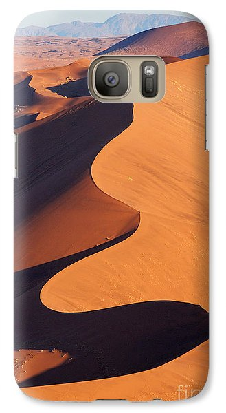 Airplanes Galaxy S7 Case - Aerial View Of The Namib Desert by Orxy