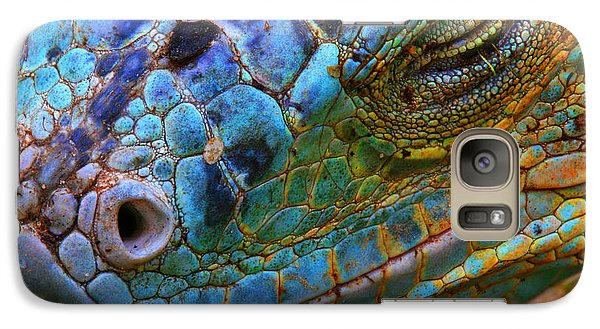 Colours Galaxy S7 Case - Amazing Iguana Specimen Displaying A by Tessarthetegu