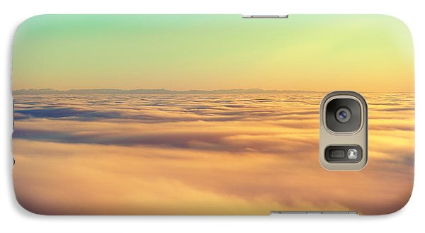 Airplanes Galaxy S7 Case - Amazing View From Plane On The Orange by Beautiful Landscape