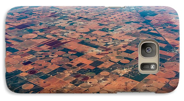 Airplanes Galaxy S7 Case - An Aerial View Of Massive Farmland With by Richard A Mcmillin