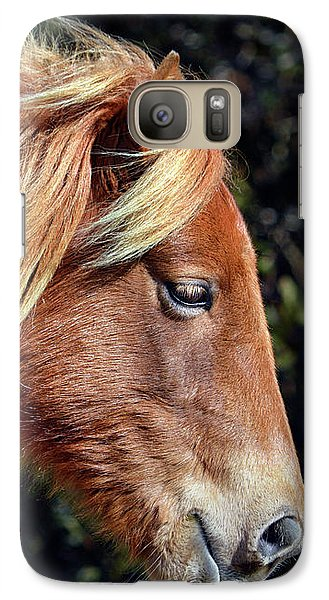 Galaxy S7 Case featuring the photograph Assateague Pony Sarah's Sweet Tea Profile by Bill Swartwout Fine Art Photography