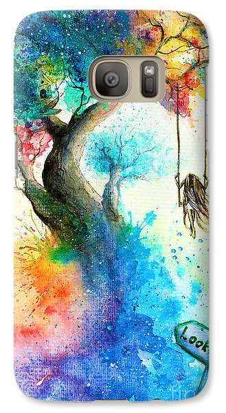 Realistic Galaxy S7 Case - Bright Colorful Fantasy Painting Of A by Tanya Shatseva