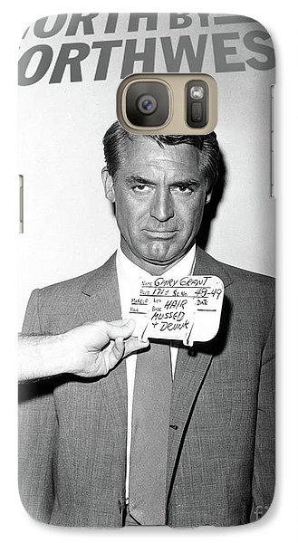 Roger Dean Galaxy S7 Case - Cary Grant, Screen Test, Wardrobe Test, North By Northwest, Hair Mussed And Drunk by Thomas Pollart