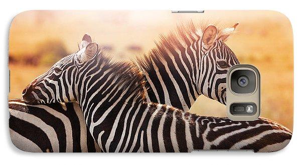 Pasture Galaxy S7 Case - Close-up Portrait Of Mother Zebra With by Sergey Novikov
