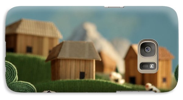Pasture Galaxy S7 Case - Countryside With Farms, Meadows, Cows by Kreus