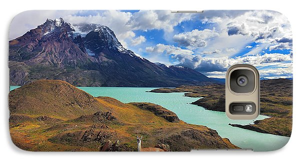 Pasture Galaxy S7 Case - Early Autumn In Patagonia. National by Kavram