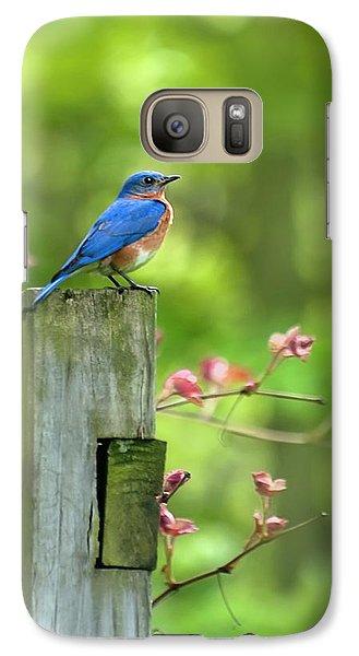 Mo Galaxy S7 Case - Eastern Bluebird by Christina Rollo