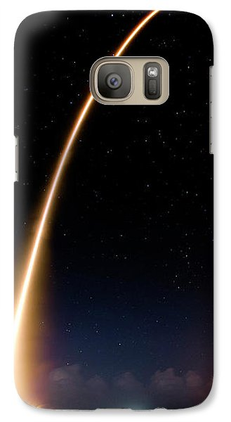 Galaxy S7 Case featuring the photograph Falcon 9 Rocket Launch Outer Space Image by Bill Swartwout Fine Art Photography