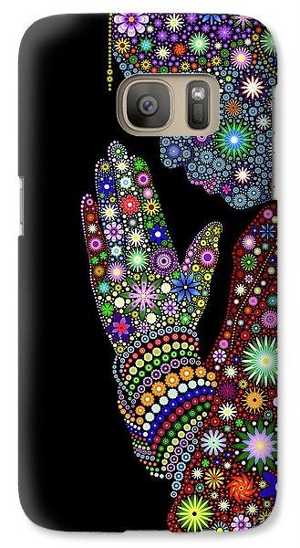 Flower Prayer Girl Galaxy S7 Case
