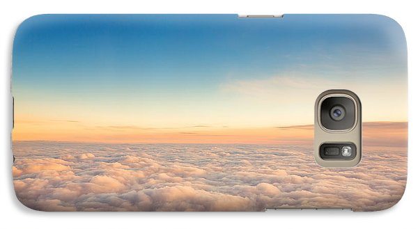 Airplanes Galaxy S7 Case - Flying Above The Clouds. View From The by Valentin Valkov