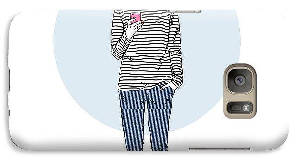 Realistic Galaxy S7 Case - Fox Teen Girl Dressed Up In Urban Style by Olga angelloz