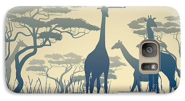 Pasture Galaxy S7 Case - Horizontal Vector Illustration Of Wild by Vertyr