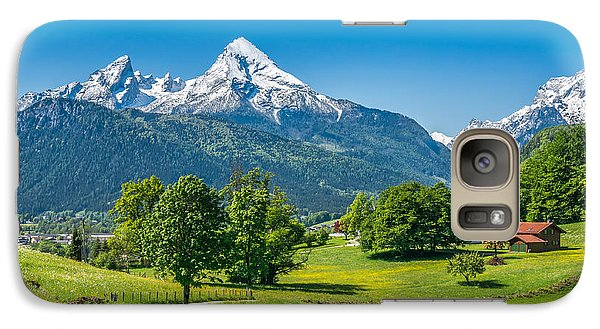 Pasture Galaxy S7 Case - Idyllic Summer Landscape In The Alps by Canadastock