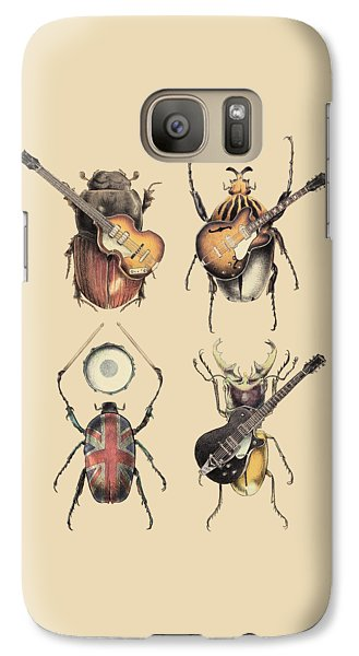 Drum Galaxy S7 Case - Meet The Beetles by Eric Fan