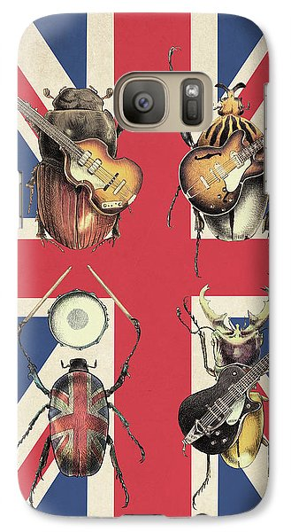 Drum Galaxy S7 Case - Meet The Beetles - Union Jack by Eric Fan