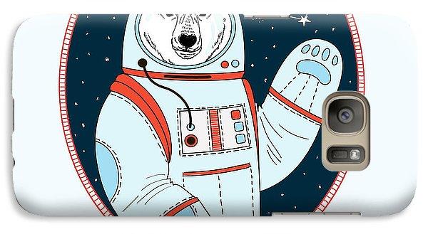 Astronaut Galaxy S7 Case - Polar Bear Astronaut In Outer Space by Olga angelloz