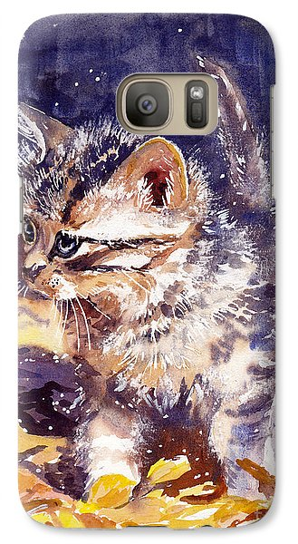 Fairy Galaxy S7 Case - Pussy On A Yellow Blanket by Suzann's Art