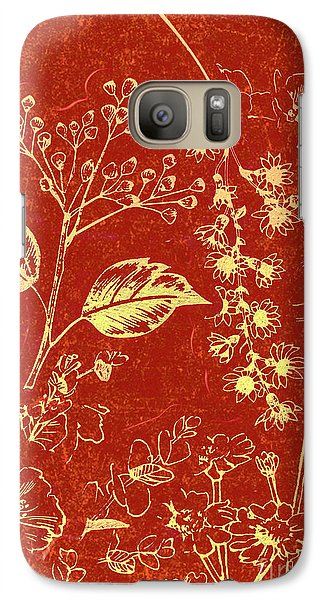 Orchid Galaxy S7 Case - Red Blossoms by Jorgo Photography - Wall Art Gallery