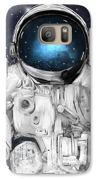 Astronaut Galaxy S7 Case - Space Adventurer  by Bri Buckley